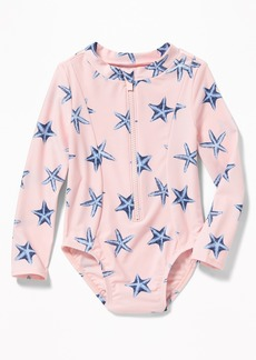 Old Navy Printed Rashguard One-Piece for Toddler Girls