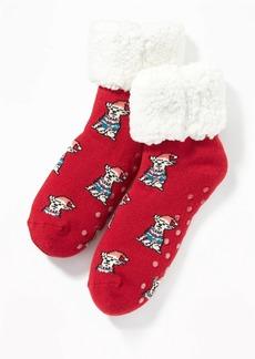 Old Navy Printed Sherpa Slipper Socks for Girls