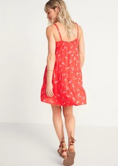 Old Navy Printed Sleeveless Tiered Swing Dress for Women
