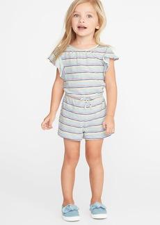 Old Navy Printed Slub-Knit Jersey Romper for Toddler Girls