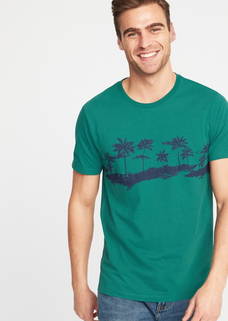 Old Navy Printed Soft-Washed Tee for Men