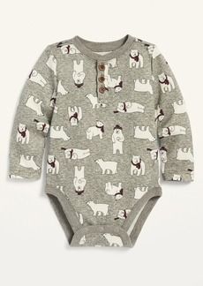 Old Navy Unisex Printed Thermal Henley Bodysuit for Baby