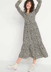 Old Navy Printed Tiered-Hem Maxi Swing Dress for Women