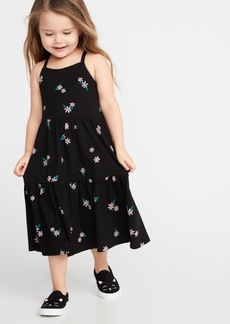 Old Navy Printed Tiered Jersey Swing Dress for Toddler Girls