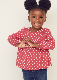 Old Navy Printed Twill Swing Top for Toddler Girls