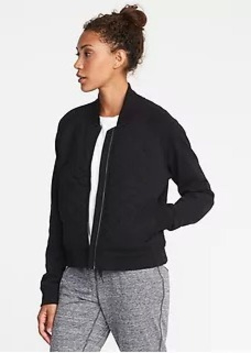 Old Navy Quilted Fleece Bomber Jacket For Women Now 1997