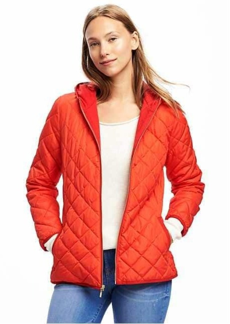 Old Navy Quilted Hooded Jacket For Women Outerwear