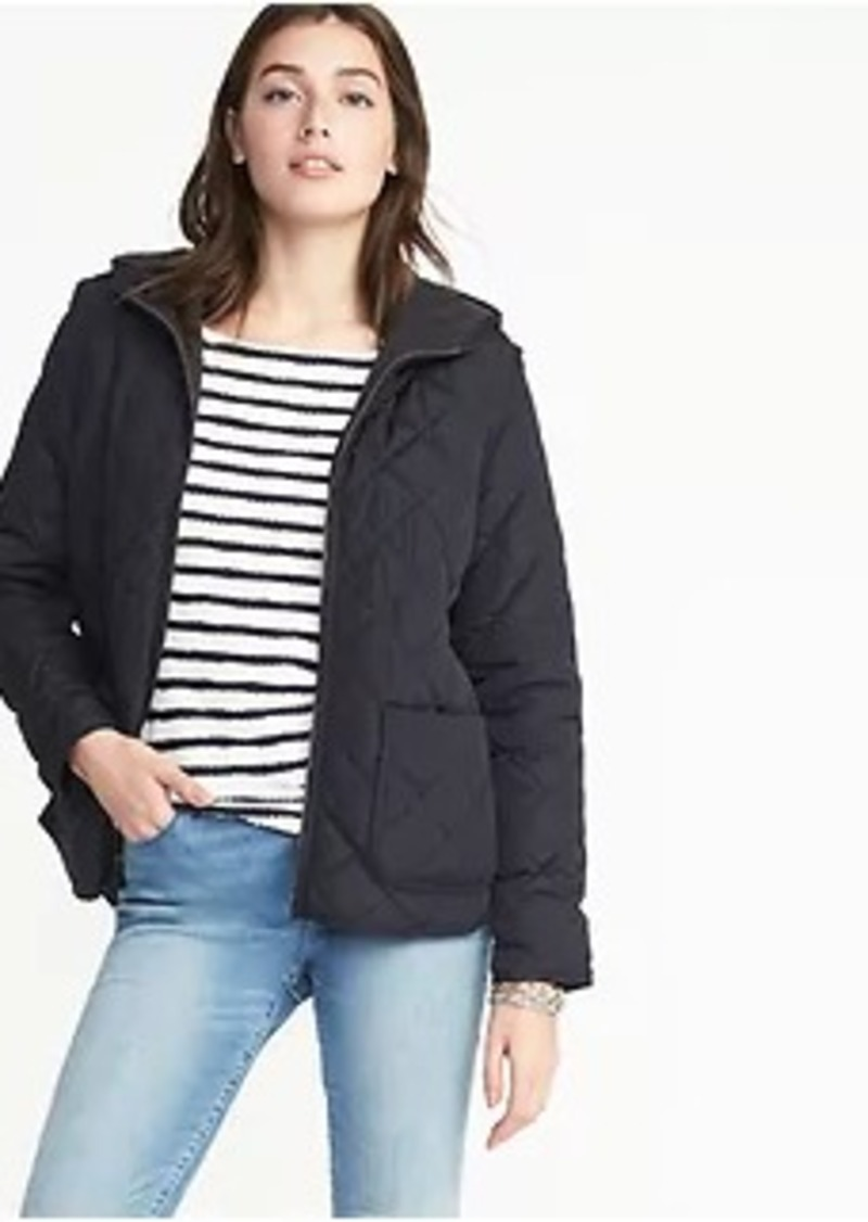 Sale Old Navy Quilted Hooded Jacket For Women
