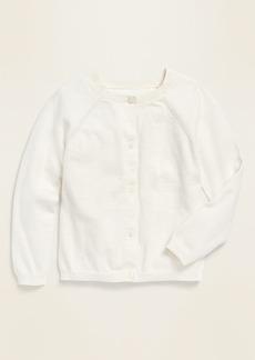 Old Navy Raglan-Sleeve Crew-Neck Cardigan for Toddler Girls