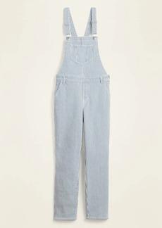 Old Navy Railroad-Stripe Jean Straight-Leg Overalls for Women