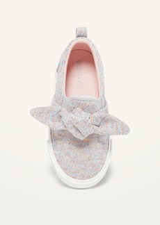 Old Navy Unisex Rainbow Metallic-Knit Bow-Tie Slip-On Sneakers for Toddler