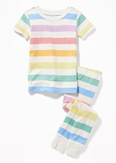 Old Navy Rainbow-Stripe Sleep Set For Toddler & Baby