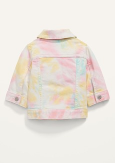 Old Navy Rainbow Tie-Dye Jean Jacket for Baby