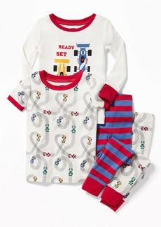 """Old Navy """"Ready, Set, Go!"""" Racecar 4-Piece Sleep Set for Toddler Boys & Baby"""