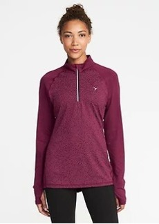 Reflective-Trim 1/4-Zip Jacket for Women