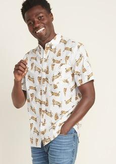 Old Navy Regular-Fit Built-In Flex Printed Everyday Shirt for Men