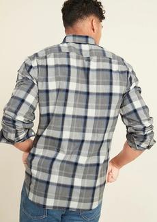 Old Navy Regular-Fit Everyday Plaid Long-Sleeve Shirt for Men