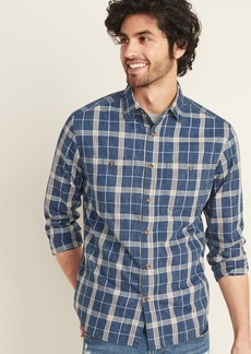 Old Navy Regular-Fit Plaid Twill Workwear Shirt for Men
