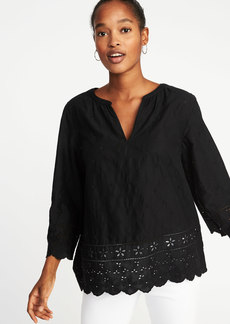 Old Navy Relaxed Bell-Sleeve Cutwork Blouse for Women