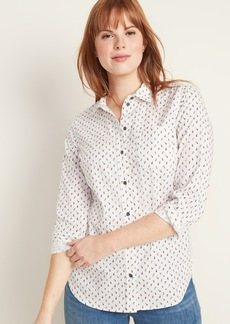 Old Navy Relaxed Button-Front Classic Shirt for Women