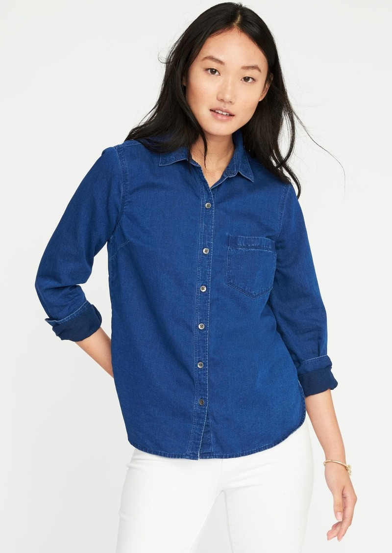 9f6d27eb04 Old Navy Relaxed Classic Chambray Shirt for Women