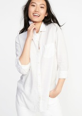 23f2d1840ed0a ... Old Navy Relaxed Classic Linen-Blend Shirt for Women ...