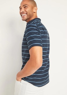 Old Navy Relaxed-Fit Textured-Stripe Short-Sleeve Shirt for Men