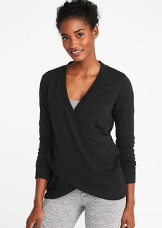Old Navy Relaxed French-Terry Cross-Front Sweatshirt for Women