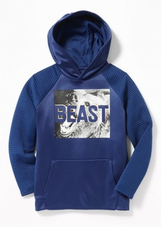 Old Navy Relaxed Go-Dry Textured-Sleeve Graphic Hoodie for Boys