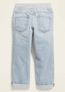 Old Navy Relaxed Jersey-Waist Distressed Pull-On Jeans for Toddler Boys