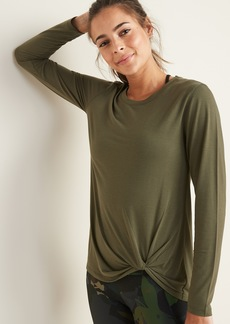 Old Navy Relaxed Knotted-Hem Performance Top for Women