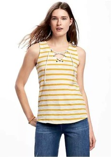 Old Navy Relaxed Lace-Up Tank for Women