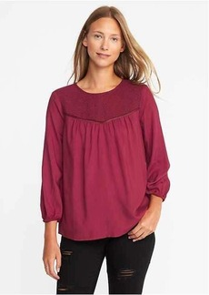 Old Navy Relaxed Lace-Yoke Top for Women