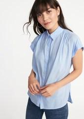 Old Navy Relaxed Lightweight Cap-Sleeve Shirt for Women