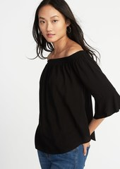 49929d827 SALE! Old Navy Relaxed Off-the-Shoulder Ruffle-Sleeve Top for Women