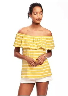 Old Navy Relaxed Off-the-Shoulder Swing Top for Women