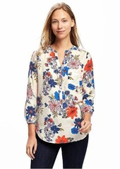 Old Navy Relaxed Printed Lightweight Blouse for Women