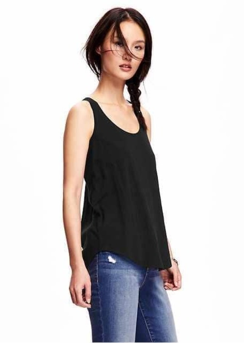 Black t shirt old navy - Old Navy Relaxed Racerback Scoop Neck Tank For Women