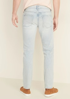 Old Navy Relaxed Slim Built-In Flex Distressed Light-Wash Jeans for Men
