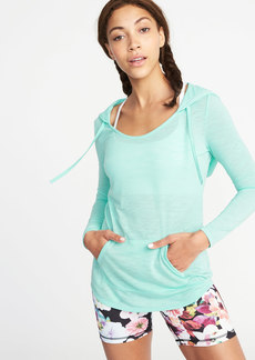 Old Navy Relaxed Slub-Knit Performance Hoodie for Women