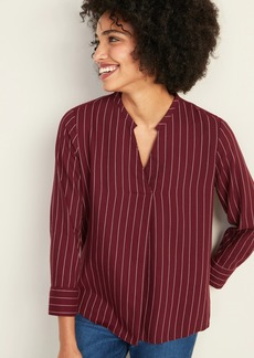 Old Navy Relaxed Split-Neck Striped Top for Women
