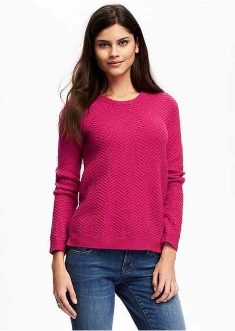 Old Navy Relaxed Textured Crew-Neck Sweater for Women | Sweaters ...