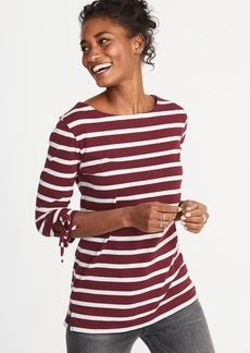 Old Navy Relaxed Tie-Sleeve Boat-Neck Tee for Women