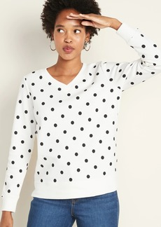 Old Navy Relaxed V-Neck Sweatshirt for Women