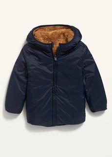 Old Navy Unisex Reversible Sherpa-Nylon Hooded Zip Jacket for Toddler