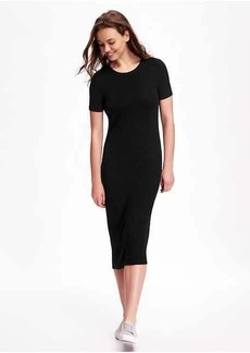 Fitted Rib-Knit Midi for Women