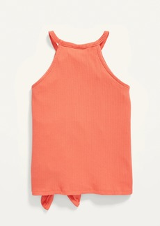 Old Navy Rib-Knit Tie-Front Halter Tank Top for Girls