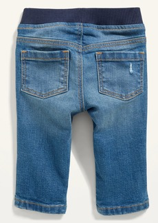 Old Navy Rib-Knit-Waist Pull-On Distressed Skinny Jeans for Baby