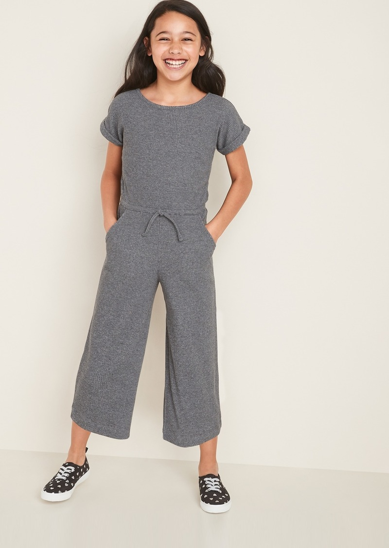Old Navy Rib-Knit Wide-Leg Jumpsuit for Girls