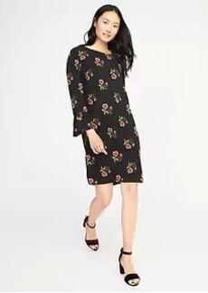 Ruffle-Sleeve Shift Dress for Women